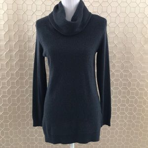 Theory 100% Cashmere Cowl Neck Sweater Dark Blue M